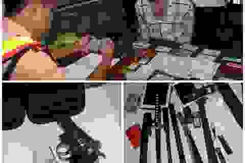 Bắt đối tượng bán ma túy tàng trữ nhiều vũ khí