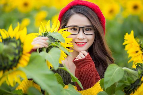 """Nữ sinh xứ Nghệ """"gây thương nhớ"""" với bộ ảnh ở cánh đồng hoa hướng dương"""