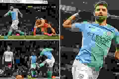 Man City 4-1 Burnley: Hai phút, Aguero lập một cú đúp