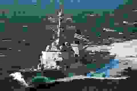 Tàu chiến Mỹ qua eo biển Đài Loan giữa lúc căng thẳng