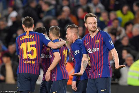 Đánh bại Sevilla 6-1, Barcelona tiến vào bán kết Cúp Nhà vua