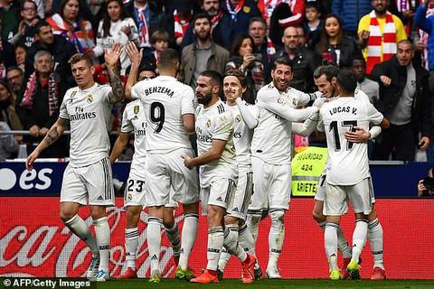 Atletico 1-3 Real Madrid: Chiến thắng thuyết phục
