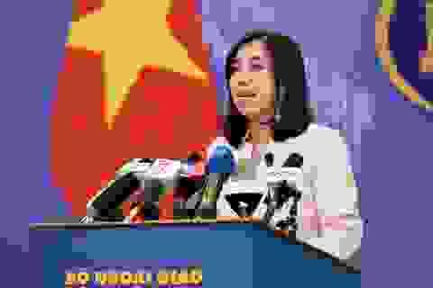 Việt Nam lên tiếng việc tàu hải quân Mỹ đi qua khu vực quần đảo Trường Sa