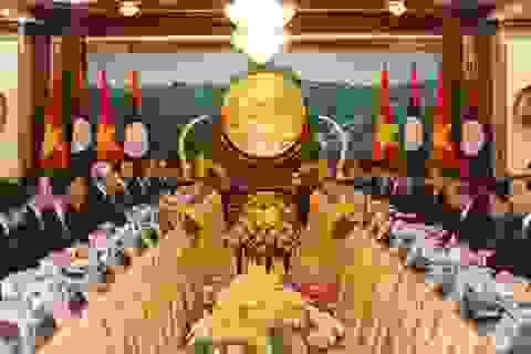 Tổng Bí thư, Chủ tịch nước Nguyễn Phú Trọng hội đàm với Tổng Bí thư, Chủ tịch nước Lào