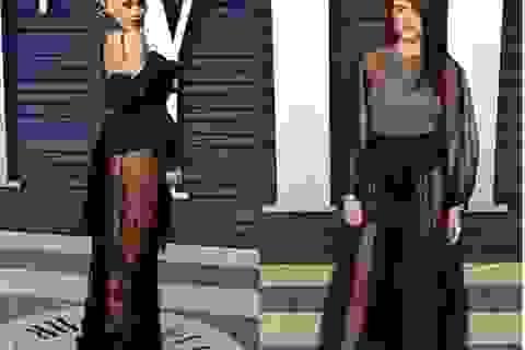Rita Ora đọ váy xuyên thấu với Shailene Woodley