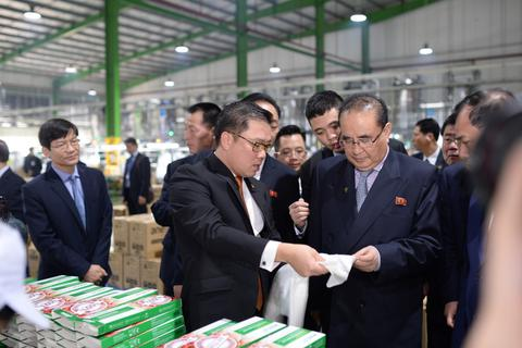Tập đoàn nhựa ở Hải Dương đón phái đoàn ngoại giao của ông Kim Jong Un