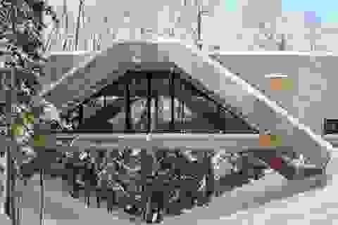 Độc đáo ngôi nhà có kiến trúc như một... cây cầu