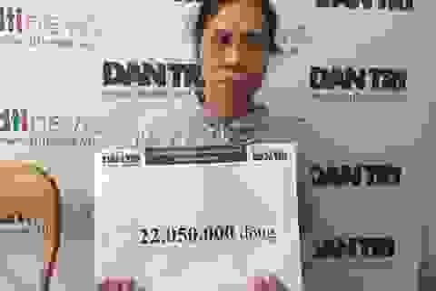 Hơn 22 triệu đồng tiếp tục đến với bé Nhân Đức bị bại não