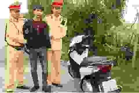 Vừa trộm xe SH từ Hà Nội về đến Thái Bình thì bị bắt giữ