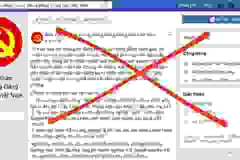 Facebook gỡ bỏ nhiều tài khoản mạo danh Ban Tuyên giáo Trung Ương