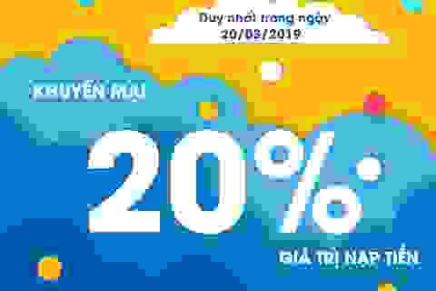 Tỏa yêu thương với khuyến mại 20% từ MobiFone