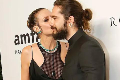 Heidi Klum tình tứ hôn bạn trai kém 16 tuổi