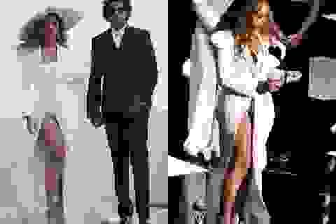 Beyonce trẻ đẹp với váy trắng sexy