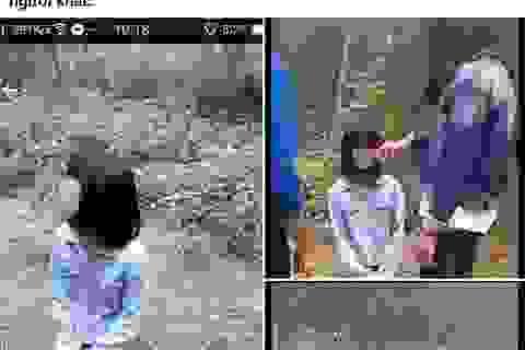 Một nữ sinh bị bắt quỳ, bị đánh, tung clip lên Facebook