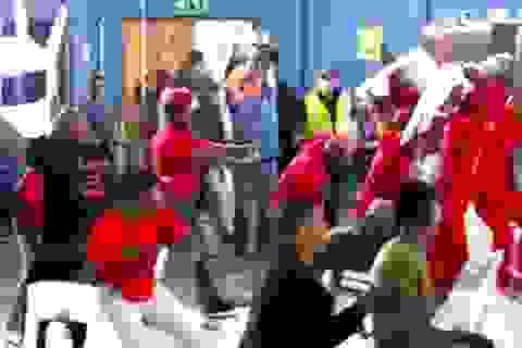 """Các nghị sĩ Nam Phi """"choảng"""" nhau trên sóng truyền hình"""