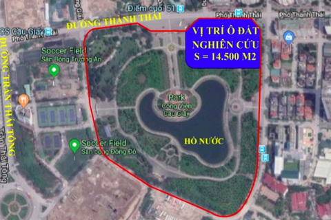"""Phó Thủ tướng yêu cầu báo cáo vụ """"xén"""" công viên Cầu Giấy xây bãi xe ngầm"""