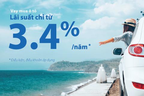 Vay mua ô tô chỉ từ 3,4%/năm cùng VIB tại Hội chợ Oto.com.vn