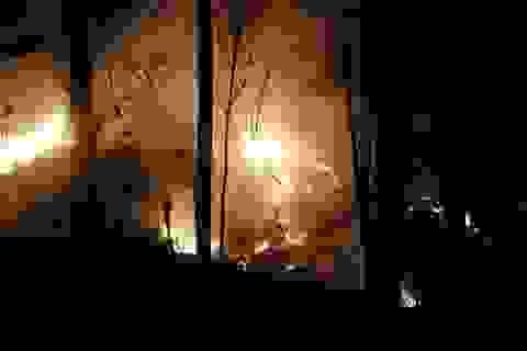 Quảng Ngãi: Rừng keo bốc cháy dữ dội suốt đêm