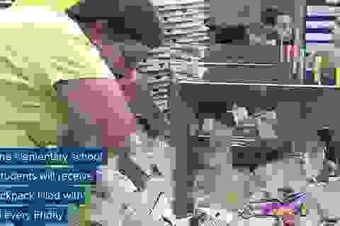 Mỹ: Căng- tin trường học phát thức ăn chưa sử dụng cho học sinh nghèo