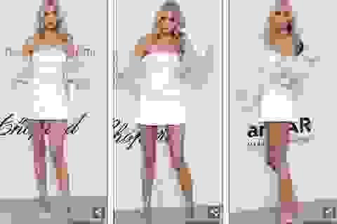 Thiên thần nội y Elsa Hosk diện váy ngắn khoe chân dài