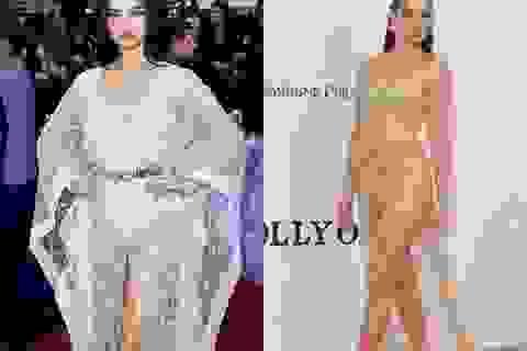 Siêu mẫu Úc Shanina Shaik diện váy hở bạo