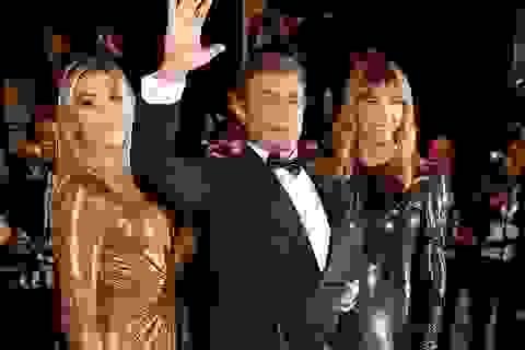 """""""Rambo"""" dự công chiếu phim cùng vợ đẹp, con xinh"""