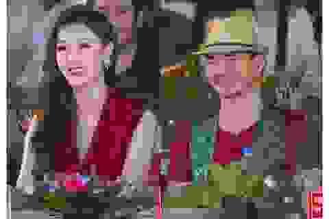 Hoa hậu Phí Thuỳ Linh, Xuân Bắc ướt nhẹp vì làm giám khảo giữa trời mưa