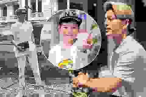 Quán quân Giọng hát Việt nhí Quang Anh khoe dáng cao như người mẫu