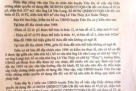 """Bắc Ninh: Toà án, chính quyền """"vênh"""" quan điểm, người dân lĩnh đủ!"""