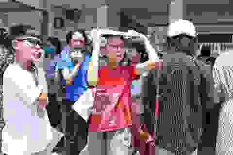 Thi đánh giá năng lực vào lớp 6 tại Hà Nội:Thí sinh mệt mỏi vì nắng nóng