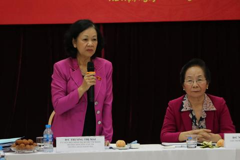 Trưởng Ban Dân vận Trung ương làm việc với Hội Khuyến học Việt Nam