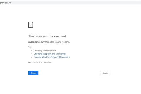 """Quảng Nam: Chưa có điểm vào lớp 10 nhưng website Sở GD-ĐT đã bị """"liệt"""""""