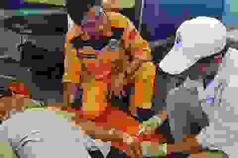 Cứu thành công thuyền viên bị tai biến mạch máu não trên vùng biển Quảng Ngãi