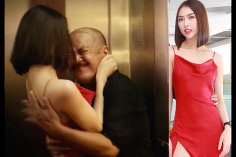 """Hoa hậu Tường Linh run khi đóng cảnh ấu dâm thang máy với """"200k"""""""