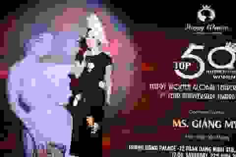 Hoa hậu Giáng My khoe nhan sắc kiêu kỳ tại Hà Nội