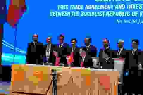 Họp báo sau lễ ký kết EVFTA, Bộ trưởng Trần Tuấn Anh: Xuất khẩu, GDP của VN sẽ tăng trưởng mạnh mẽ