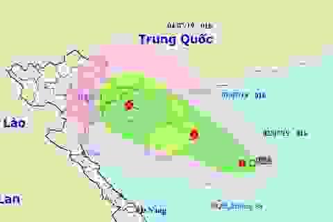 Áp thấp nhiệt đới khả năng mạnh thành bão hướng vào Bắc Bộ