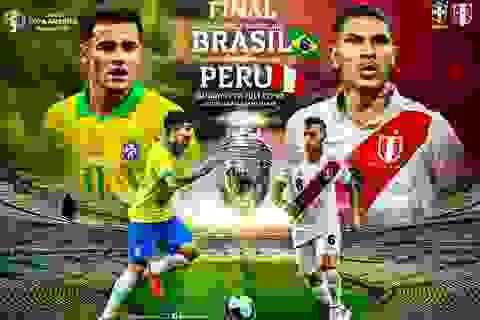 Chủ nhà Brazil sẽ hủy diệt Peru để vô địch Copa America?