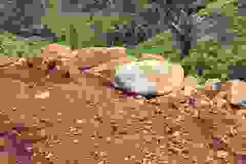 Truy trách nhiệm việc khai thác đá trái phép trên đất quốc phòng