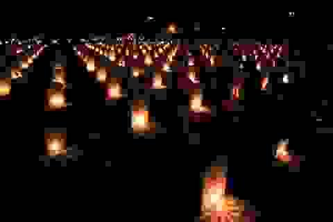 Hơn 11.000 ngọn nến lung linh tri ân các anh hùng liệt sĩ