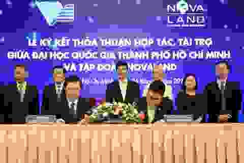 Quỹ phát triển Đại học Quốc gia TPHCM tiếp nhận 10 tỉ đồng tài trợ từ Novaland