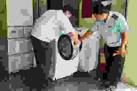 12 tấn máy lạnh, máy giặt cũ nhập lậu bị bắt giữ