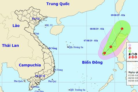 Xuất hiện áp thấp nhiệt đới, vùng biển Bình Thuận - Kiên Giang đề phòng giông lốc