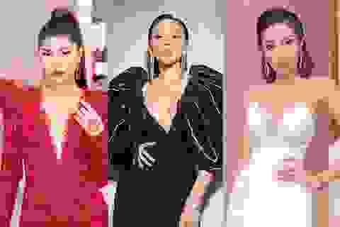 Hoa hậu Kỳ Duyên, Tóc Tiên diện váy xẻ sâu khoe vòng 1