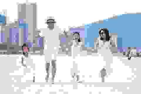 """Gia đình soái ca Mạnh Trường, Hồng Đăng chuẩn bị """"đại chiến"""" tại giải chạy cuối tuần này"""