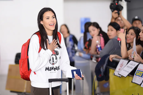 Hoa hậu Quốc tế 2018 Mariem Velazco mặc giản dị khi đến Việt Nam