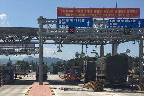 Giảm phí BOT cho xe tải, xe container qua tỉnh Bình Định