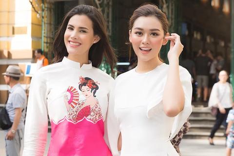 Hoa hậu quốc tế Mariem diện áo dài khi khám phá TPHCM