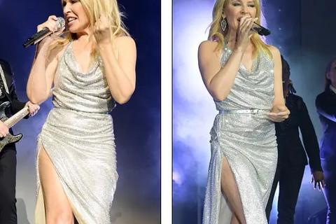Kylie Minogue diện váy đính 100.000 viên pha lê