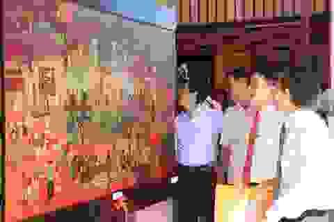 """100 tác phẩm mỹ thuật """"Di sản văn hóa"""" được trưng bày tại Mỹ Sơn"""